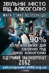 Стомившись від алкогольного безладу, міська рада Рівного підтримала тверезницький законопроект №2062