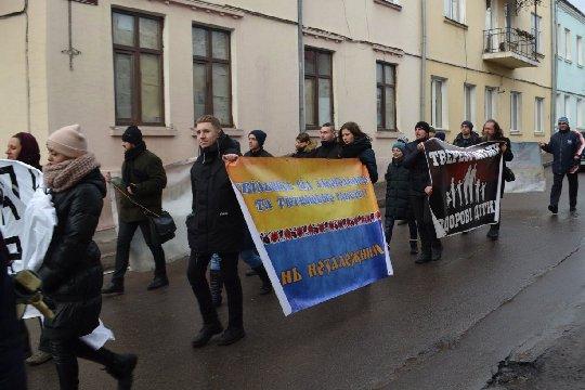 Марш здорової нації у Жовкві (ліквідація алкогольних і тютюнових отрут)